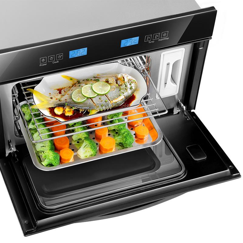 炫虎蒸箱家用 嵌入式电蒸箱 小型电蒸炉 内嵌式蒸汽炉25L厨房家用