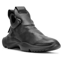 欧美风增高4cm男鞋 2018新款运动休闲鞋真皮板鞋百搭厚底暗黑潮鞋
