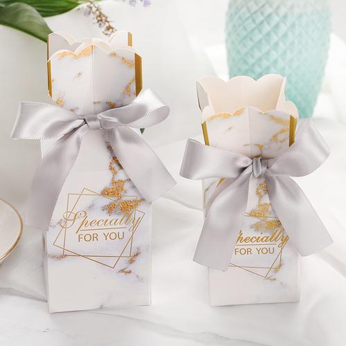 欧式浪漫结婚糖盒 花瓶森系喜糖盒个性婚礼派对创意韩式回礼盒子