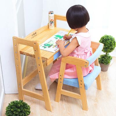 实木儿童幼儿园学习桌简约组合可升降写字桌椅套装小学生写字台