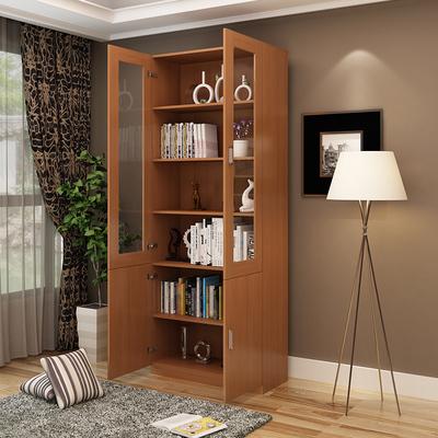 简约现代书柜书架自由组合储物柜带玻璃门客厅柜子置物架简易书橱性价比高吗