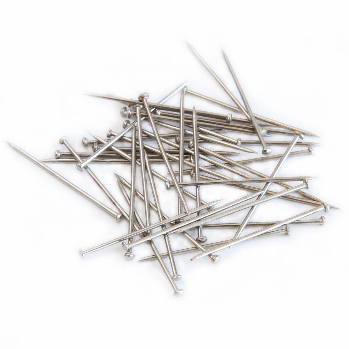 deli得力0016大头针不锈钢固定针镀镍办公定位针50枚办公文具