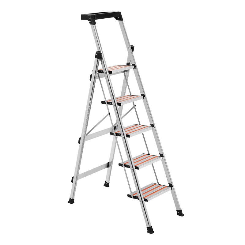 创步不锈钢家用折叠人字梯子铝合金加厚楼梯多功能室内便携登高梯
