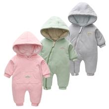 婴儿棉衣男童女童连体衣宝宝外套哈衣秋装春秋季爬服外出服棉袄