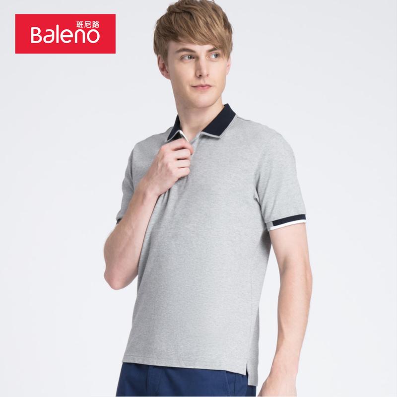 Baleno班尼路 保罗短袖polo衫t恤男 防紫外线弹力翻领t恤男