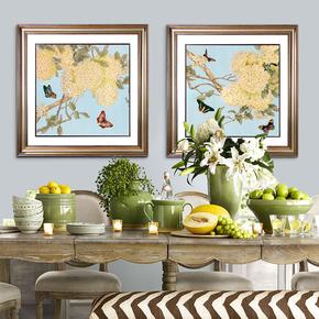 现代简约美式乡村装饰画卧室餐厅画样板房配画挂画客厅画新中式画