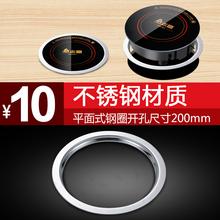 小火锅炉圆形不锈钢平面式钢圈适用于195面板火锅桌配套专用