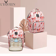 LEQUEEN Mummy bag multi-function large-capacity fashion backpack mother bag pregnant women out backpack maternal and child package