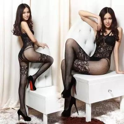 性感情趣内衣免脱情趣丝袜超薄连身开裆黑色镂空连体网衣极度诱惑