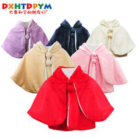 Children's cloak cloak men and women princess autumn and winter out thick flannel dress baby cloak baby cloak winter
