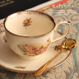 Coffee cup saucer cup set home coffee set European ceramic English tea set afternoon tea set