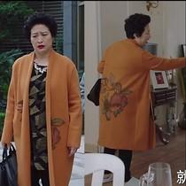 气质妈妈款冬装外套女大衣高贵中老年长款加肥加大码毛衣180斤200