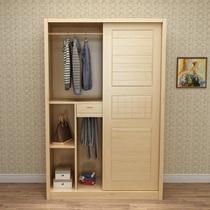 组装塑料柜子简易衣柜实木纹推拉门卧室整体衣柜简约现代经济