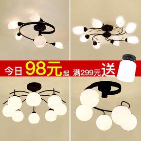 北欧宜家客厅灯美式简约吸顶灯大气家用温馨主卧室灯现代餐厅灯具