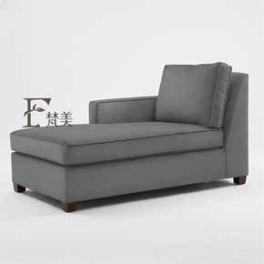 美式乡村布艺贵妃椅欧式客厅简约现代贵妃榻美人沙发卧室懒人躺椅