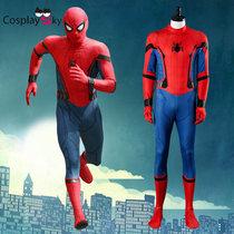 蜘蛛侠英雄归来cos spiderman连体紧身衣战衣全套电影cosplay服装