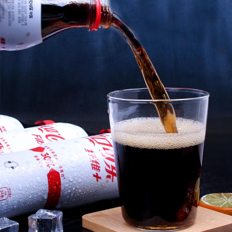 可乐可口可乐纤维无糖膳食纤维加碳酸饮料500ml*12瓶整箱批发