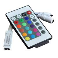 12V mini controller RGB colorful lights with 3528 5050 module IR infrared 24 keys 44 key remote control