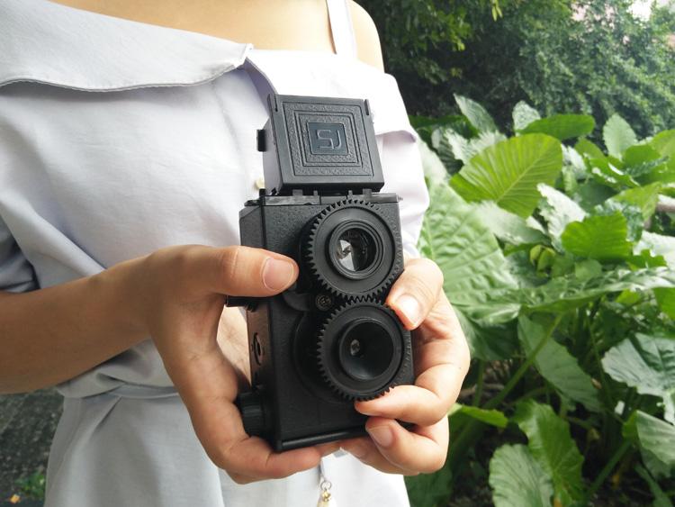 科学 自制礼物老式复古双反傻瓜胶卷照相机大人 DIY 相机包邮 LOMO