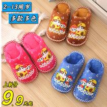 儿童棉拖鞋防滑软底冬季可爱男女童小孩保暖包跟棉拖厚底宝宝拖鞋