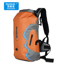 Train of Thought TPU Outdoor Stream Tracking Waterproof Bag, Shoulder Backpack Drifting, Climbing, Swimming, Waterfall and Falling to Sea with Large Capacity