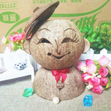 Hainan national traditional specialty coconut shell crafts tourism souvenirs coconut carving doll decorations gift storage tank