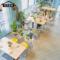 原木色铁艺温莎椅咖啡厅西餐厅桌椅日式奶茶店快餐店小吃店桌椅