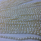 Natural freshwater pearl 3.8mm rice beads string hole loose beads selected pearl rice beads necklace micro 瑕 strong light necklace