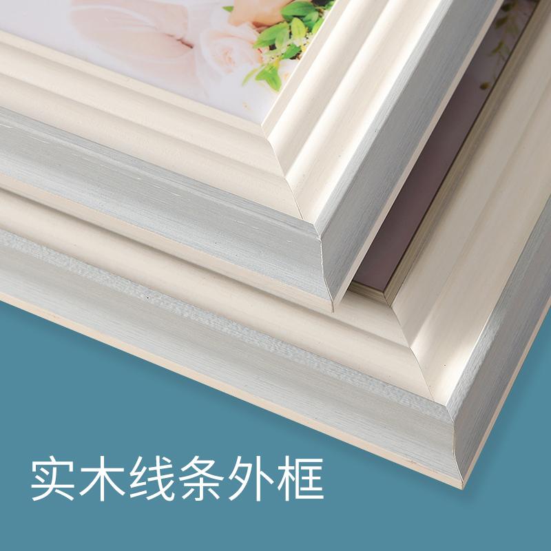 影楼婚纱照放大相框挂墙组合结婚照全家福客厅摆台照片相册定制