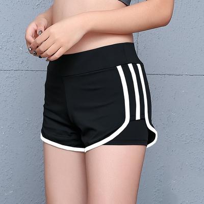 运动短裤女瑜伽服女夏季跑步短裤防走光紧身大码速干假两件健身裤