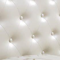 韩式床现代简约白色田园风格全实木床1.8米欧式儿童床 女孩公主床