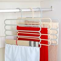 Pants rack pants clip multi-function hanging pants hanger support shakes dormitory dormitory wardrobe artifact multi-layer pants hanging home
