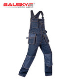 Bao Shiji tooling spring and autumn suspender overalls multi-functional labor insurance suit bibs machine repair wear-resistant solid multi-pocket