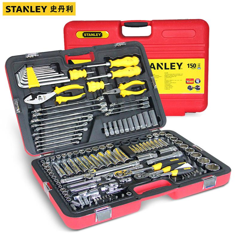 史丹利150件汽保工具套装专业机修工具组套多功能汽修五金工具箱