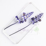 Sage lavender natural dried flower embossed material diy plant specimens Epoxy dried flower phone case