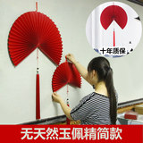 Super-resistant to look, Chinese wall hanging decoration fan hanging fan hotel hotel decoration wall decoration living room hanging fan-shaped gifts
