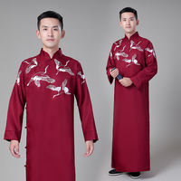 The new comics clothing Republic of China long-sleeved men's Daxie Allegro performance to serve the Republic of China youth students dress pattern Tang suit