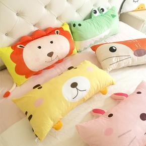 森林动物柔软羽绒棉可拆洗卧室儿童床枕头午休枕靠枕沙发抱枕