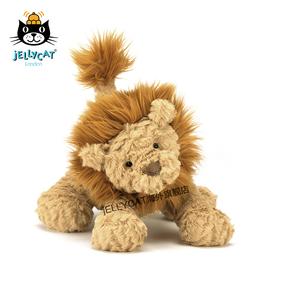 英国进口jellycat波浪毛系列柔软波浪毛狮子淡褐色超柔软毛绒公仔
