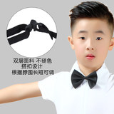 Children's Latin dance shirt small bow tie boy boy children's modern competition performance show black bow