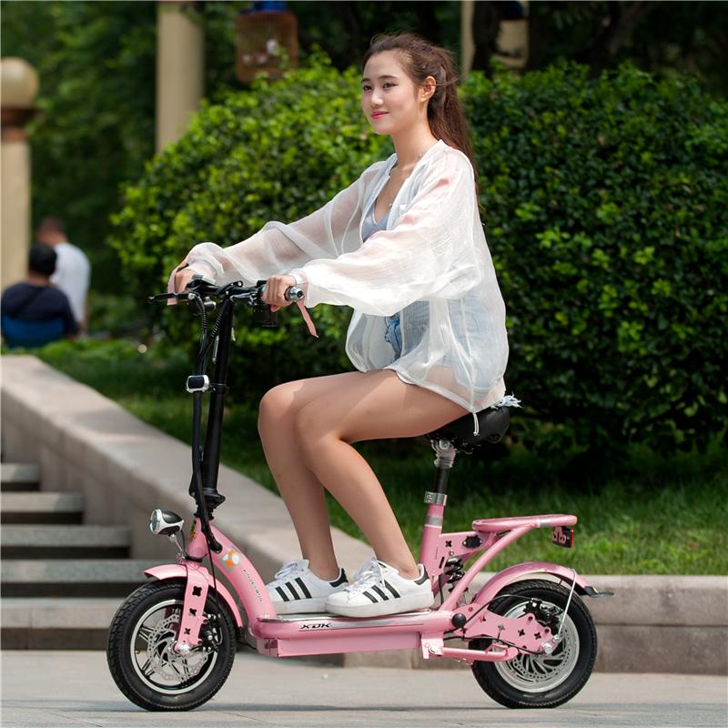 电动车女性自行车小型电瓶车迷你电单车轻便成人子母折叠代步车