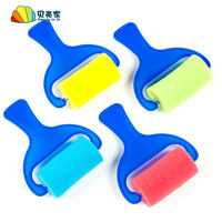 Sponge roller roller brush sponge brush set sponge roller brush stamping children's painting graffiti tools