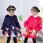 护衣秋冬小中大女童羽绒服罩衣 公主罩衫 宝宝长袖 圆领拉链前穿韩版图片
