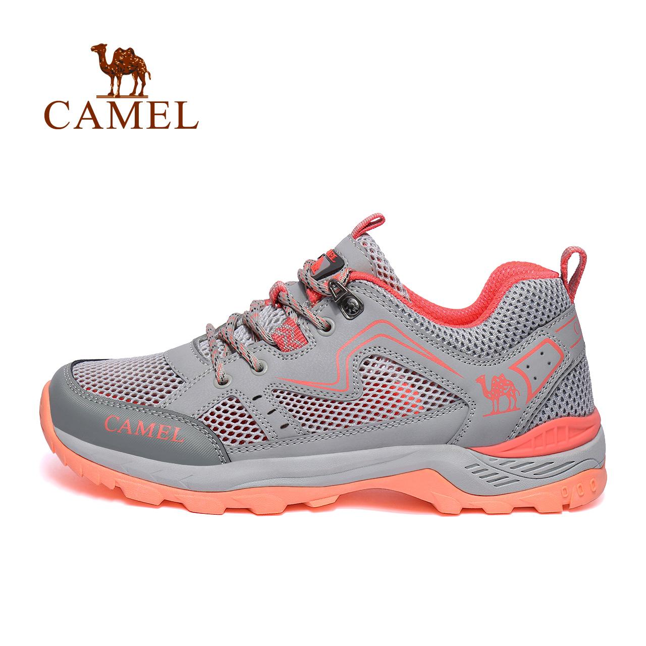 骆驼户外休闲男鞋夏季防滑徒步登山凉鞋女鞋透气运动网鞋旅游鞋潮