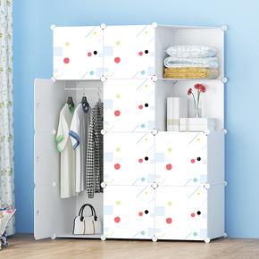 简易衣柜简约现代经济型布艺成人组装衣橱加固塑料衣柜收纳