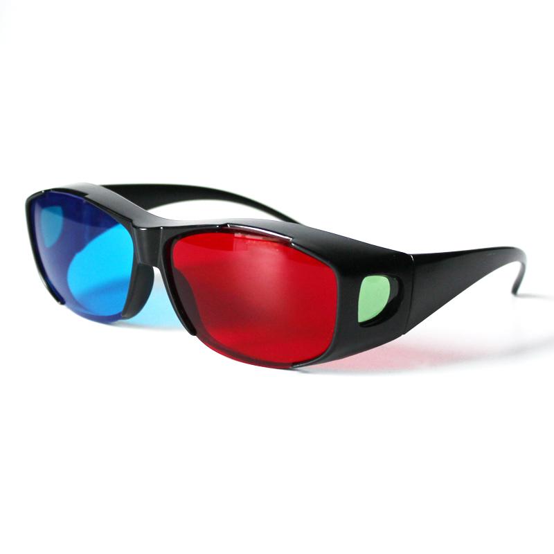 红蓝3d眼镜电脑手机笔记本投影仪专用 立体三D电影通用近视夹片睛