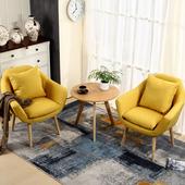 休闲阳台桌椅组合三件套北欧沙发小茶几现代简约单人靠背椅小桌椅