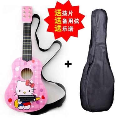 21寸儿童玩具迷你小吉他 初学者仿真木质可弹奏乐器 男孩女孩礼物特价