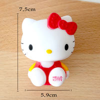 Party cake decoration ornaments large doll pink kitten cartoon cute kitten cake decoration