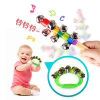 Baby small sand hammer red ball hand rattle newborn baby hand grasping listening visual training red toy small rattle